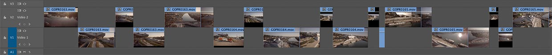 Timeline de dérushage sous Adobe Premiere Pro CC